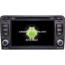 Android 4.4 Mirror-link Glonass/GPS 1080P dual core car central multimedia for Audi A3 with GPS/Bluetooth/TV/3G